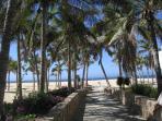 Walk down to Pedregal Private Beach!