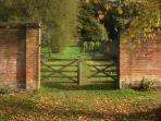 Entrance to Victorian walled garden for lovely walks.