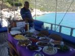 Sunset Boats Food Is Wonderful