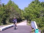 Whitlacoochee bike trail, close to the villa