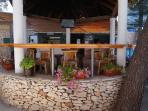Beach restorant and caffe bar on Accapulco beach