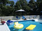 Hampton Quogue Summer Vacation Rental  Home Pool and Tennis  5Bdrms/3Bathrm. Private Beach Access.