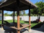 Lounging deck/Palapa