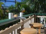 Enjoy a morning coffee on the upstairs balcony or down at the pool.