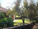 Casa Mar, jardin con hasta 4 tumbonas, hamacas
