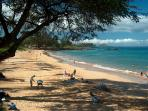 Semi private beach, a hidden Maui gem. Stroll, run, snooze, or play on this world class beach.