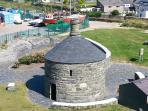 The Old Round House, just behind the apartment is the old jail for local drunkards ........