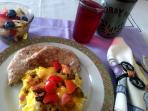 The 'Lighter Fare' breakfast option... included in  your Stay and delivered to your suite or patio!