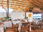 Charming, rustic La Vista Azul restaurant just steps away