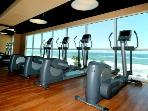 Gym facing ocean