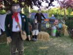 Muston scarecrow festival , 10 min walk from us , lasts for a week in summer