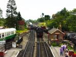 Nearby Goathland steam railway , great for a day out