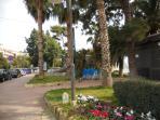Central promenade in Ospedaletti Ligure