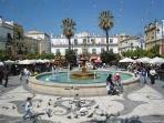 Sanlucar town square
