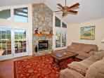 Another great look at the living room with long range mountain views