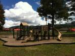 Playground at the rodeo grounds.  There are also basketball courts and playgrounds across the street