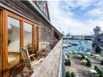 Discovery Place overlooks Events Square and Port Pendennis Marina in the heart of Falmouth town