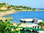 The private sea club 'Lido Sferracavallo' in front of the house.