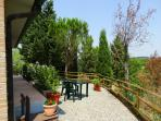 Margherita and Oleandro Terrace with amazing view and private tables/chairs