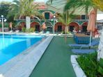studio comlex exterior and swimming pool