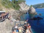 Paleokastritsa beach bar, 10 inutes drive way