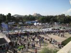 Kallimaramaro Stadium on Athens Classical Marathon day.
