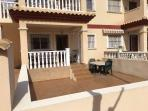 Front of Apartment with enclosed courtyard