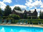 Use the WIlburton Inn pool 1 mile away