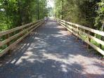 The biking/hiking trail at the end of our street leads right into Rehoboth