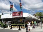 3 min walk: the Parkdale market is in operation 7 days a week, April to November.