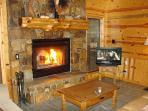 Mountain Rock Fireplace