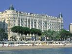 InterContinental Carlton hotel is 15 mins walk from the apartment along beautiful La Croisette