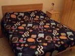 bedroom 2, double bed, wardrobe and bedside tables