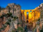Ronda. This was built without electricity, engines, machinery etc. Amazing feet of engineering.