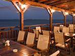 Fish restaurant amazing views off the sea