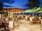 Fish restaurant on the beach