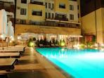 roman pool by night