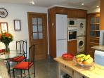 Spacious area with washing machine & separate tumble drier