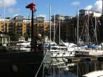 Nearby St Katherine Docks is largely unknown, but has bars, restaurants and shops galore!