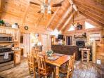 Stunning Luxury Log Home 4 BR/4Bath w/ Game Room