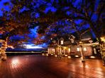 Our deck is an astounding 6000 square feet.  Great for receptions, dancing, dining, or stargazing!
