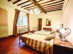 Spacious and elegant room. With artistic and old fashion design, accurately chosen to fit in.