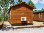 Parking in back of cabins