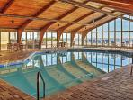 Indulge in a soothing swim in the indoor complex pool