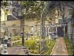 Famous Touchstone Gardens print in Smithsonian Inst The right 1/2 is your garden