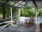 Your front deck overlooking the creek