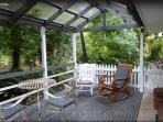 Your front deck overlooking the creek