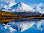 Ireland's most iconic mountain, Mt. Errigal is climbed throughout the  year.
