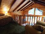 Sequoiatude, Sleeping Loft with Queen Bed