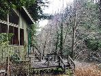 Sequoiatude, Cazadero Cabin perched over Austin Creek